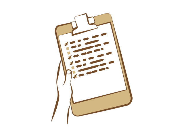 Clipboard with check options